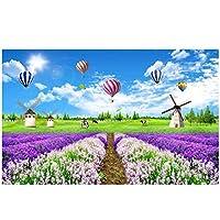 """カスタム写真壁紙3D色とりどりの花でいっぱい3D草原の風景テレビの背景壁の壁紙壁画-400cm(W)x 250cm(H)(13'1""""x 8'2"""")ft"""