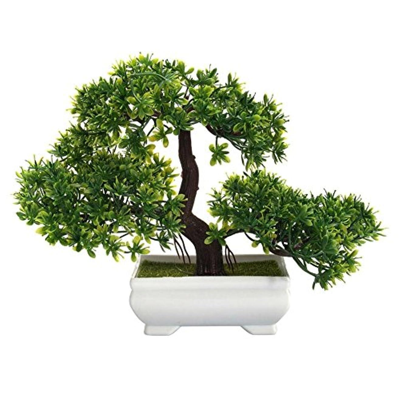 自動化ボイコット宣言Jicorzo - ミニクリエイティブ盆栽人工植物装飾オフィスホーム用はありませんじょうろ鉢植えを色あせません