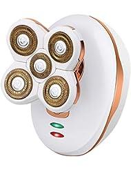 ポータブル脱毛器、電気痛みのないフェイシャルシェーバー、コードレス防水電気トリマー,White