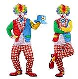 fino creare ピエロ衣装 4点 セット (燕尾服、白シャツ、ズボン、蝶ネクタイ) コスチューム 男女共用 フリーサイズ (adult フリーサイズ)