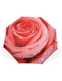 バララ(La Rose) 折り畳み傘 バラ柄 花柄 レディース 軽量 手開き かわいい 子供 折りたたみ傘 日傘 晴雨兼用 梅雨対策 頑丈な8本骨 遮光 丈夫 耐風 撥水 携帯用 収納ポーチ付き