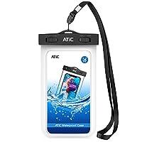 防水ケース - ATiC 6.2インチ以下スマート用 ハンドホルダー式と首掛け式 ストラップ付き 防水レベルIPx8 iPhone Xs/iPhone XR/8 Plus/8/7/6s Plus,Galaxy S9/S9+,S8+/S8,S7 Edge,S6,Honor,MOTO,LG,Nexusなどに対応している- WHITE
