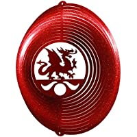 Dragon Circle Swirly Metal Wind Spinner 2049