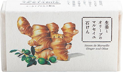 ウェルコ 洗顔料 生姜とオリーブのマルセイユ石けん 80g...