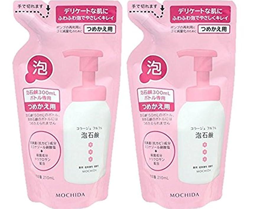 余暇愛情深い隠コラージュフルフル 泡石鹸 ピンク つめかえ用 210mL (医薬部外品)×2