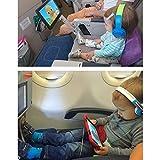 新しいインフレータブル旅行足脚Rest Pillow for Kids、子供子中飛行機フライトとBeingベッドto lay downまたはスリープon長距離フライトからmauvana–ブルー