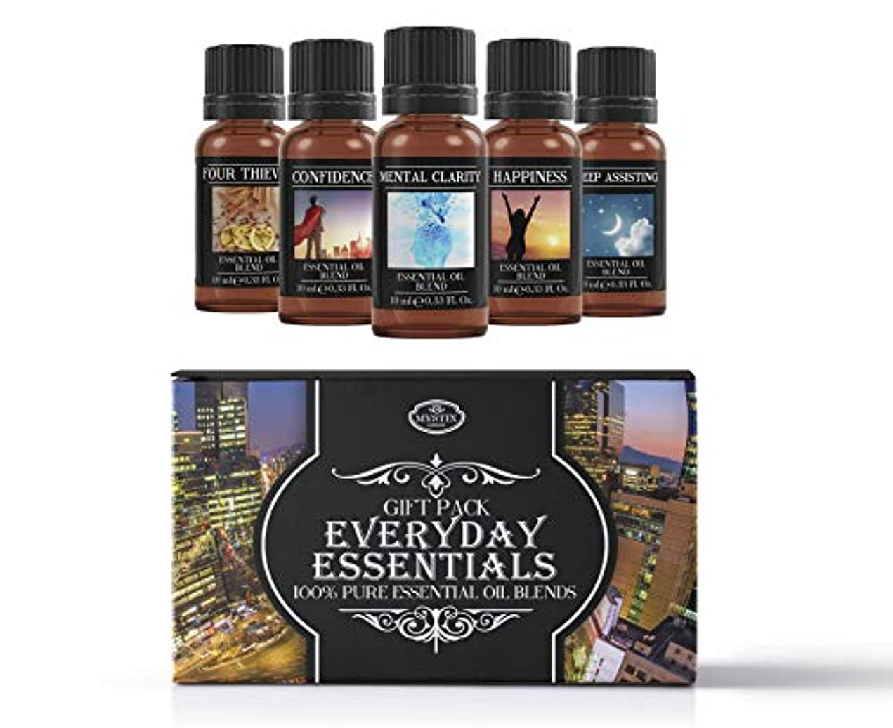 廊下熟読するまつげEveryday Essentials | Essential Oil Blend Gift Pack | Confidence, Four Thieves, Happiness, Mental Clarity, Sleep...