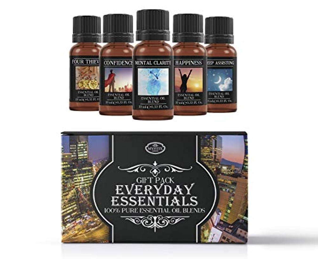寓話多様なEveryday Essentials   Essential Oil Blend Gift Pack   Confidence, Four Thieves, Happiness, Mental Clarity, Sleep Assisting   100% Pure Essential Oil Blends