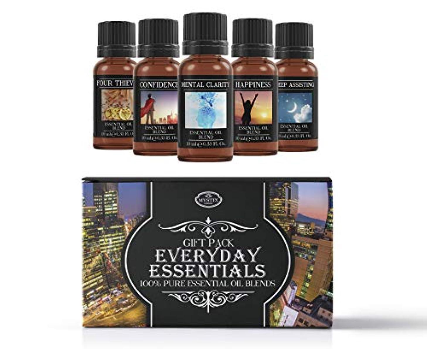 買収フライト類人猿Everyday Essentials | Essential Oil Blend Gift Pack | Confidence, Four Thieves, Happiness, Mental Clarity, Sleep...