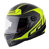 MHR LS2 DIABLO(ディアブロ) カーボン フルフェイスヘルメット カーボン/イエロー Mサイズ