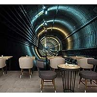 Lixiaoer カスタム壁紙壁画Hd 3D次元空間の壁紙時空トンネルレストランの背景壁の壁画-200X140Cm