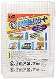 ユタカメイク PE透明糸入りシート 2.7m×2.7m B-311