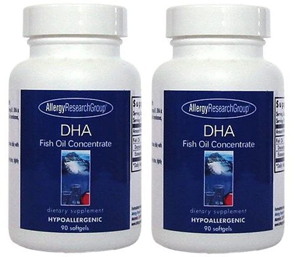 司書愛ポットDHA & EPA (DHA Fish Oil Concentrate 90 Softgels ) [海外直送品] 2ボトル