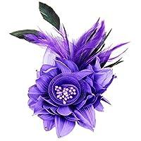 コサージュ 入学式 コサージュ フォーマル 2way ヘッドドレス 卒業式 濃い紫 コサージュ 結婚式 髪飾り fham18008dpe