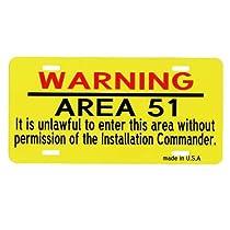 エリア51★AREA 51・許可なく立ち入り禁止★ライセンスプレート
