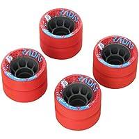 Radar Accordeur Jr Roues de Roller Skate 59 mm, Rouge