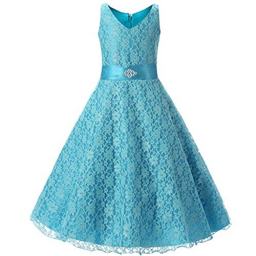 【ファンタストコスチューム】こどもドレス 女の子 スパンコール 花 結婚式 ページェントプロムボール...