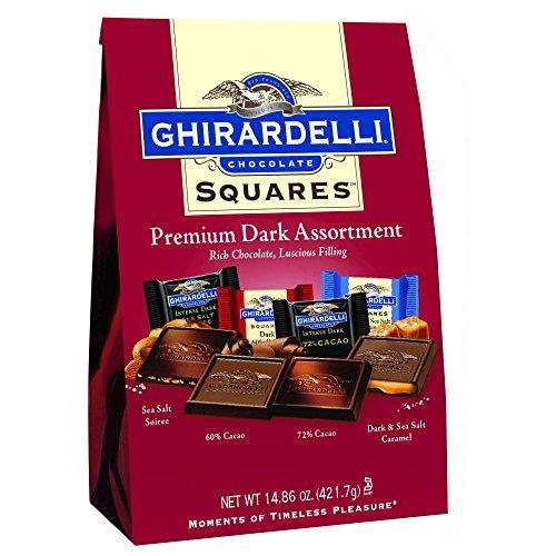 Ghirardelli Chocolate Squares Premium Dark Assortment ギラデリチョコレートスクエアプレミアムダークアソートメント420g1袋 [並行輸入品]