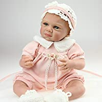 NPK Handmade Reborn Baby Doll Soft Silicone 50cm Magnetic Mouth toy Doll Hot