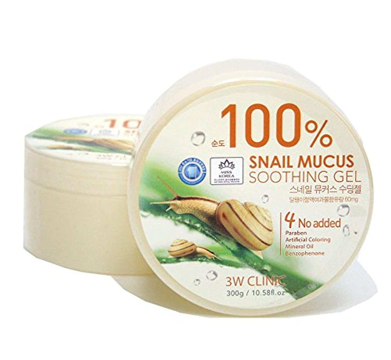 漏斗円形のまさに[3W CLINIC] カタツムリ粘液スージングジェル300g / Snail Mucus Soothing Gel 300g / 水分/オールスキンタイプ / Moisture / fresh and smooth /...
