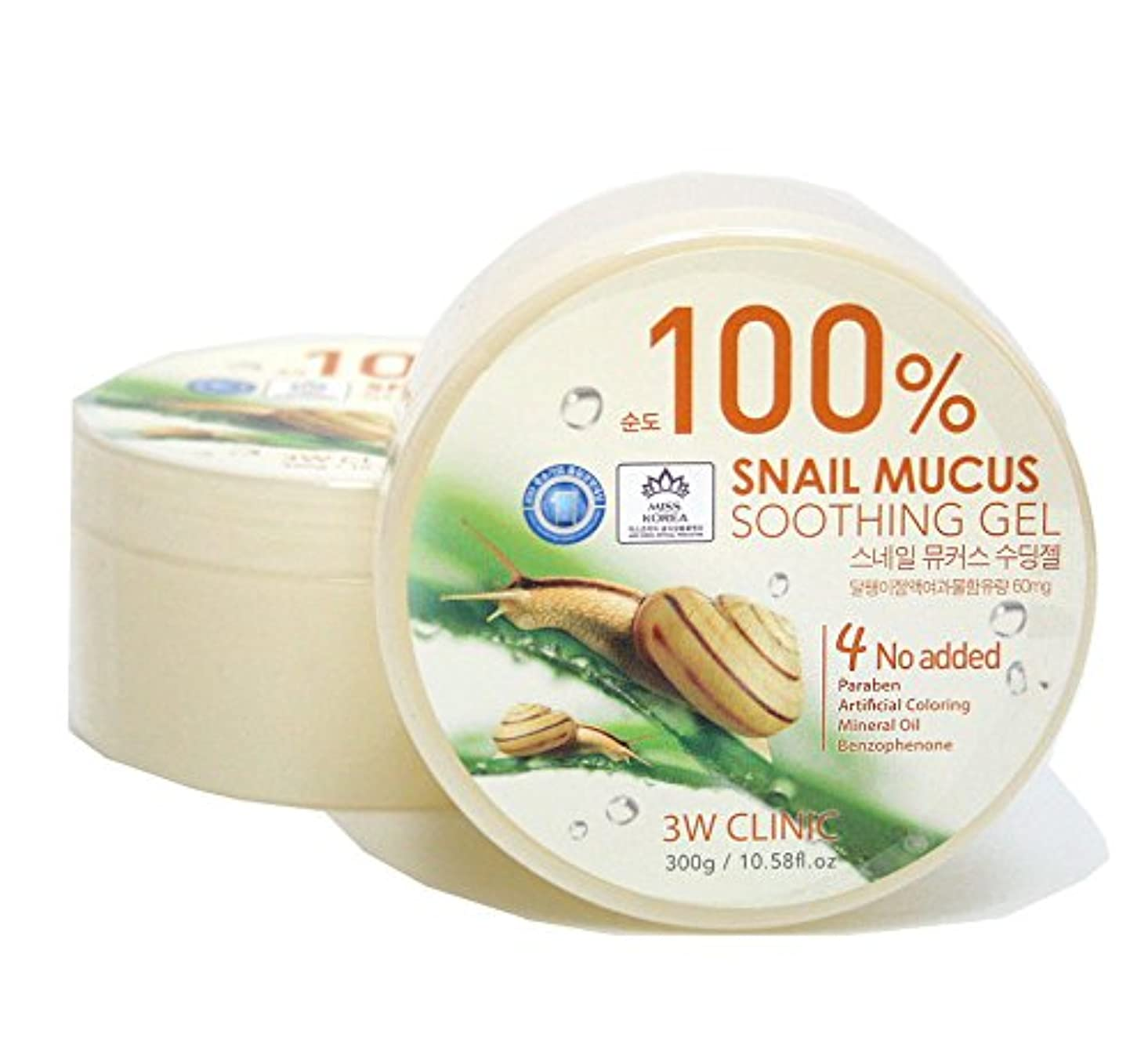 子音憎しみ登場[3W CLINIC] カタツムリ粘液スージングジェル300g / Snail Mucus Soothing Gel 300g / 水分/オールスキンタイプ / Moisture / fresh and smooth /...