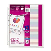 Tabbed Sheet Protector Standard Weight