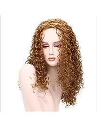 CATYAA 60cm合成繊維かつら小カーリーフェイスタイプカーリーヘア260g (Color : 27#)