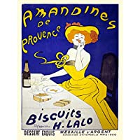 ADVERT FOOD BISCUIT ALMOND COOKIES PROVENCE FRANCE FINE ART PRINT POSTER 30X40 CM 12X16 IN 広告フードフランスアートプリントポスター