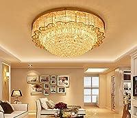 YueyangホームライティングホテルリビングルームヴィラLED 3明るさK9クリスタルミラーステンレススチールクリスタルランプLEDとリモコン付きシャンデリアシーリングライト