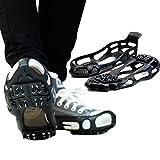 「シューズ型でズレにくい」 最強 24ピン 滑り止め 簡単着脱 靴 靴底 アイススパイク スニーカー 革靴 ビジネスシューズ ブーツ 登山にも