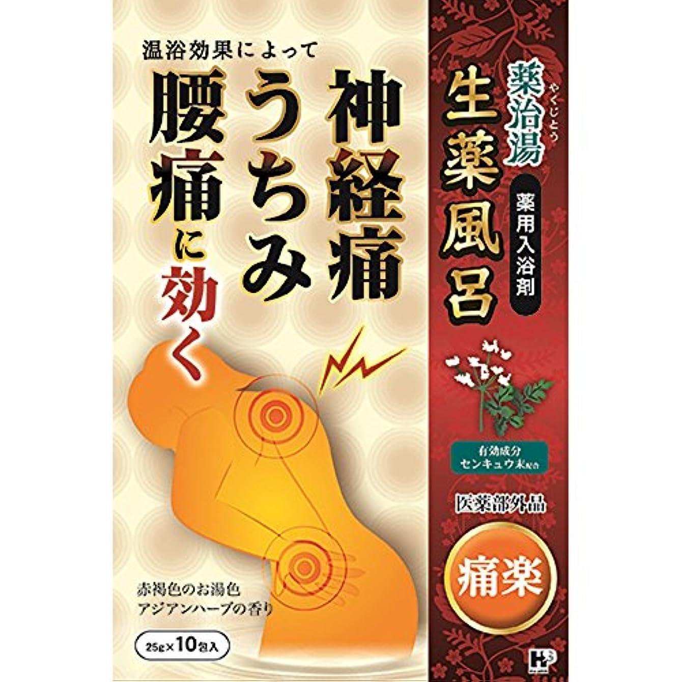 導出ぬいぐるみ振り向く薬治湯 痛楽 25g×10包
