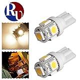RVNI 2個入り T10 5050 5SMD LED ライト バルブ ポジションランプ コーナーライト ルームライト プラスチック 高輝度 低電力消耗 W5W 194 168 2825 158 192 ウォームホワイト