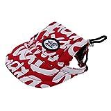 【ノーブランド 品】ペット 犬 猫 子猫 野球帽 ネック ストラップ キャップ サンボネット 全2サイズ選べる レッド - M