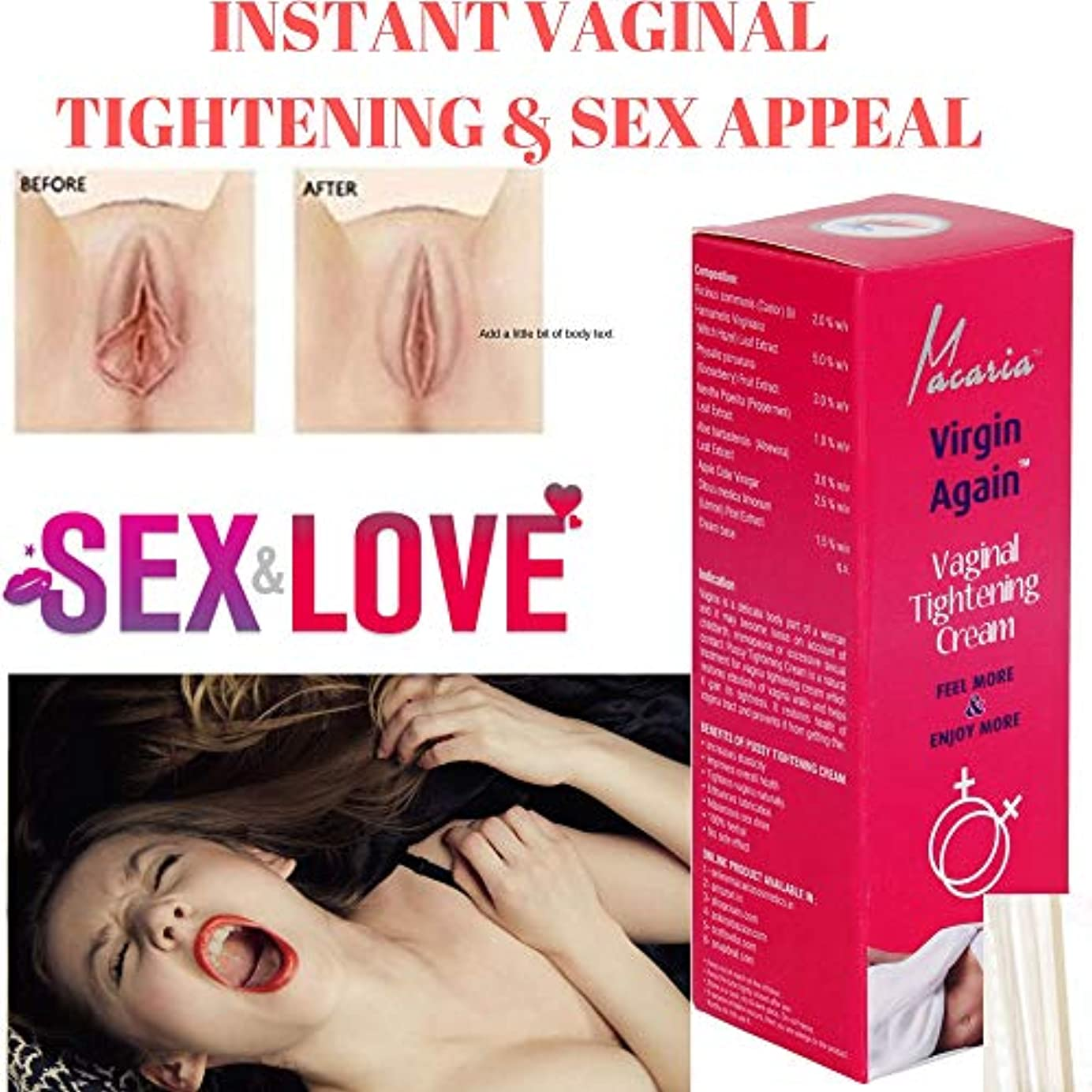 空グラフ管理するVagina Tightening Gel Feel Young Again Intimate Cream