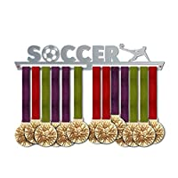 サッカーメダルハンガー表示v1|スポーツメダルハンガー|ステンレススチールMedal表示| by victoryhangers–The Best Gift For Champions 。