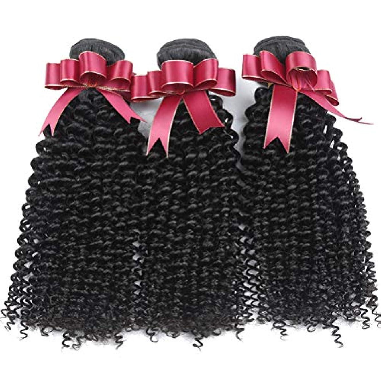 月曜なめらかからブラジルの変態巻き毛の束女性130%密度ブラジルの毛1束ブラジルの人間の毛髪の束巻き毛