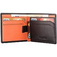 HOEASY RFIDメンズ財布 薄型財布-Napa本革で作り カード12枚とお札入れる 高級なクレジット保護装置 スキミング防止