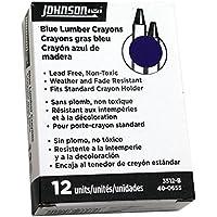 Johnson Level & Tool Lumber Crayons Blue 12-Pack #3512-B [並行輸入品]