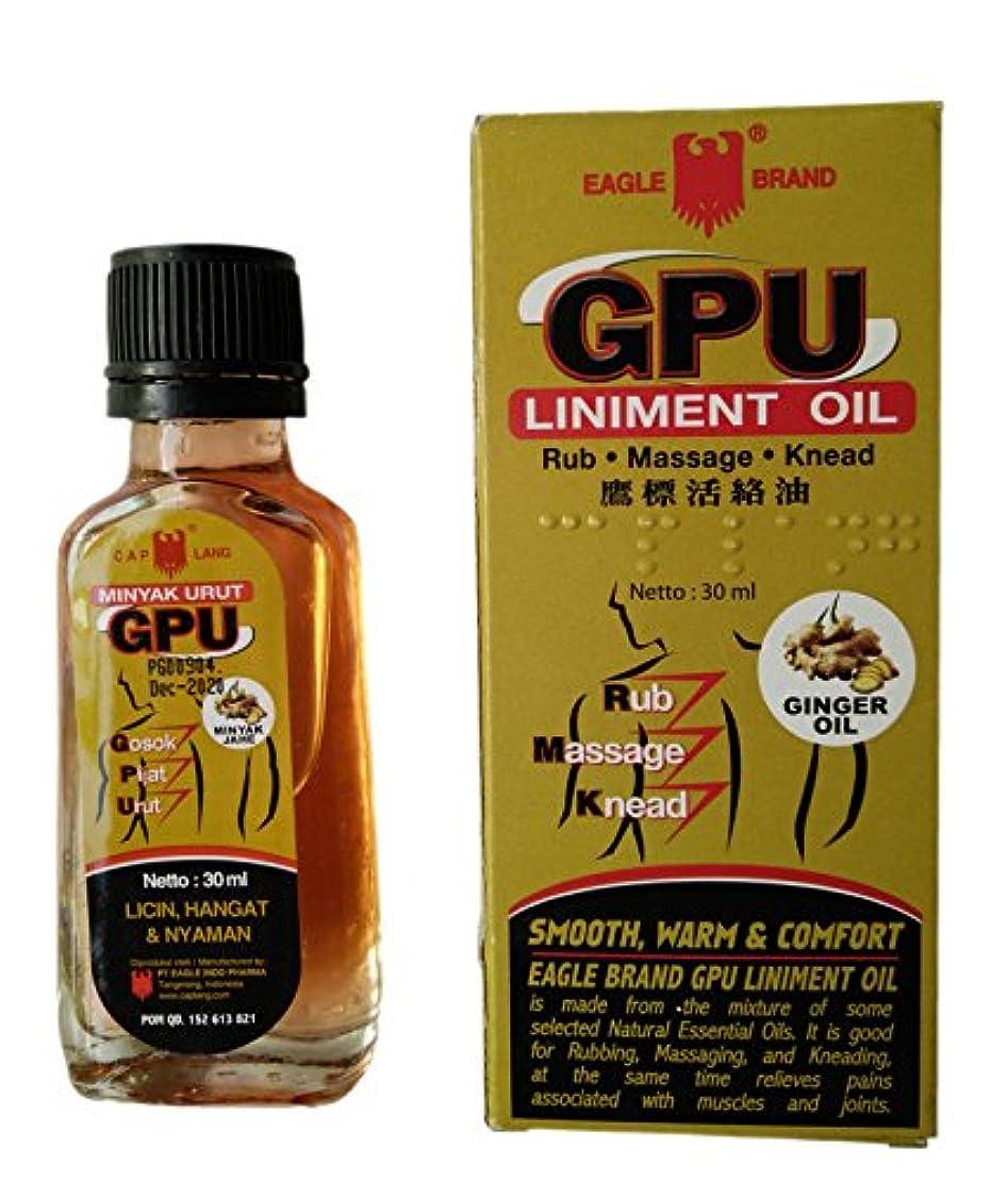 G.P.U ジンジャー付きキャップラングイーグルブランドgpuリニメント(jahe)オイル、30mlの(2パック)