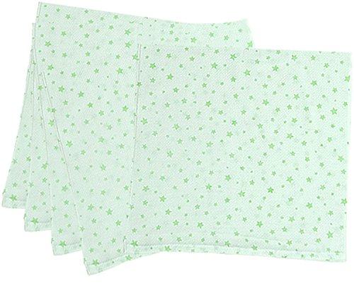 5枚組 ハーフサイズ ドビー織 星柄 仕立て布おむつ グリーン TK712 日本製