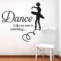 Ballet Girls Dance Quote Vinyl Art Wall Sticker Decal Kids Room Decor Removable