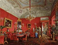 Oil painting ' Hauエドワード・Petrovich、Interiorsの冬宮殿、大きな図面の部屋のEmpress Alexand、Fyodorovna、1807–1887'印刷on Perfect effectキャンバス、12x 15インチ/ 30x 39cm、最高のホームギャラリーアートとギフトはこの高品質、ダイニングルーム装飾アート装飾プリントキャンバス