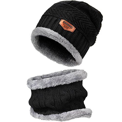 AKNONRE ニット帽 ニットキャップ ワッチキャップ メンズ 2点セット 着心地抜群 防寒対策