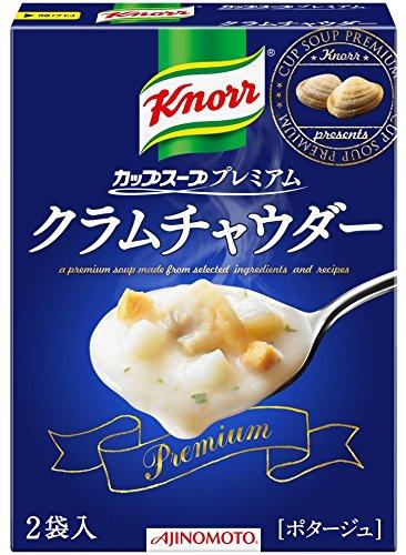 味の素 クノールカップスーププレミアム クラムチャウダー 43.6g×4個