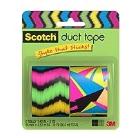 Scotch ダクトテープ 1.42 Inch x 5 Yards - 2 Roll 905-NTNR-2PK 1