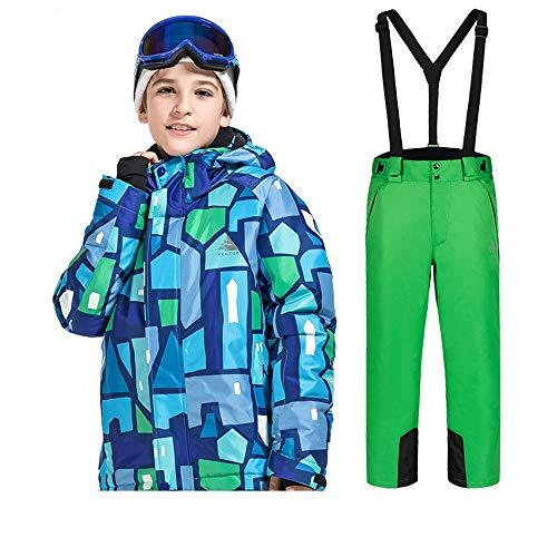 キッズスキージャケット 冬のスノーシューズ最新の子供の服セッ...