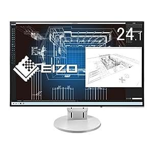 【Amazon.co.jp限定】EIZO 24.1型モニター(IPS/フレームレス/ブルーライト軽減/HDMI/DisplayPort /5年間&無輝点保証/耐震ゴム付属)EV2456-RWTAZ2