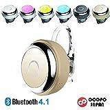 [日本正規品]COOPO Bluetooth4.1 ワイヤレスヘッドセット 左右耳 片耳両耳とも対応 超小型 日本語説明書 マイク内蔵 軽量 CP-Q3(ゴールド)
