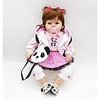 ハンドメイド20インチ50 cm LovelyソフトシリコンRebornベビーガール人形Realistic Looking新生児ビニール人形幼児用Toy for Kid XmasギフトFree Magnet Pacifier