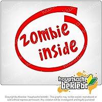 ゾンビの中に Zombie inside 12cm x 11cm 15色 - ネオン+クロム! ステッカービニールオートバイ